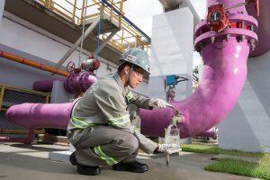 O Aquapolo tem capacidade para produzir até 1000 litros de água de reúso por segundo (Foto: Aquapolo / Rogério Reis)