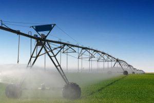 pivo central irrigação nivel do solo