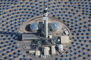 Vita aérea da usina solar Crescent Dunes