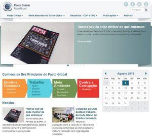 capa home da página da rede brasil do pacto global