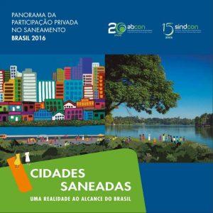 capa do relatório Panorama da Participação Privada do Setor Saneamento 2016