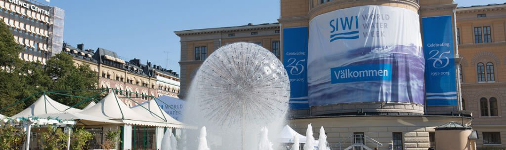 Fachada da sede do evento World Water Week