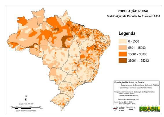 População rural por município