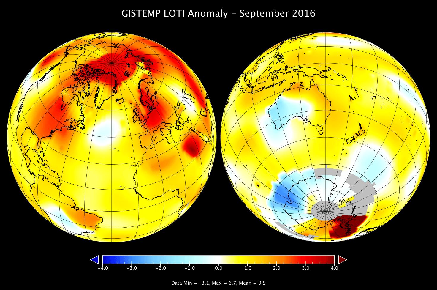 Setembro mais quente da história