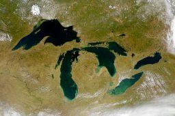Mapa mostra contaminação química nos Grandes Lagos da América do Norte