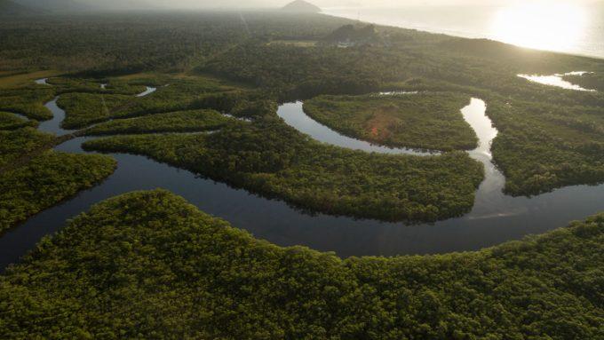 mar da amazônia rio amazonas imagem aerea