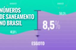 Saneamento no Brasil: animação reúne principais dados e estatísticas; veja