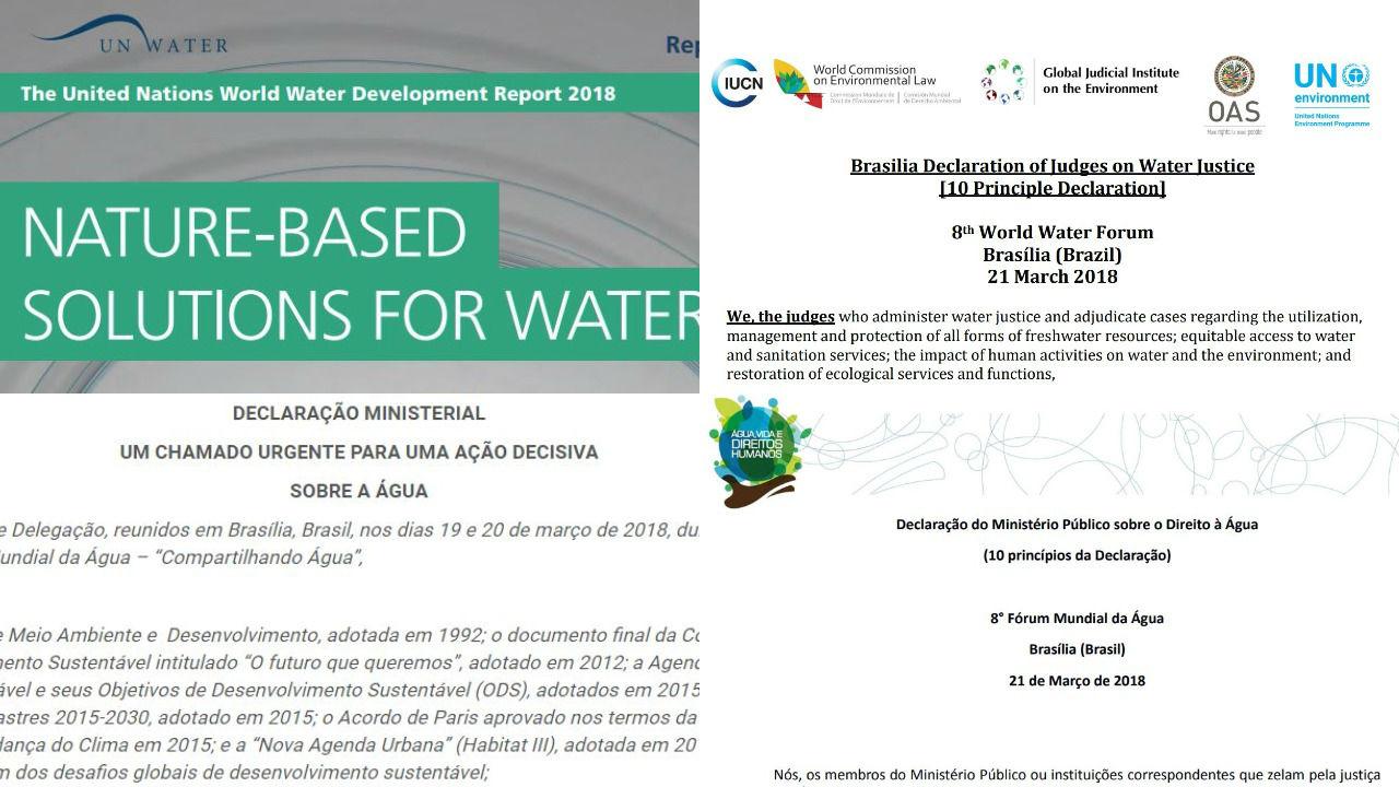 Os 7 principais documentos divulgados no 8º Fórum Mundial da Água